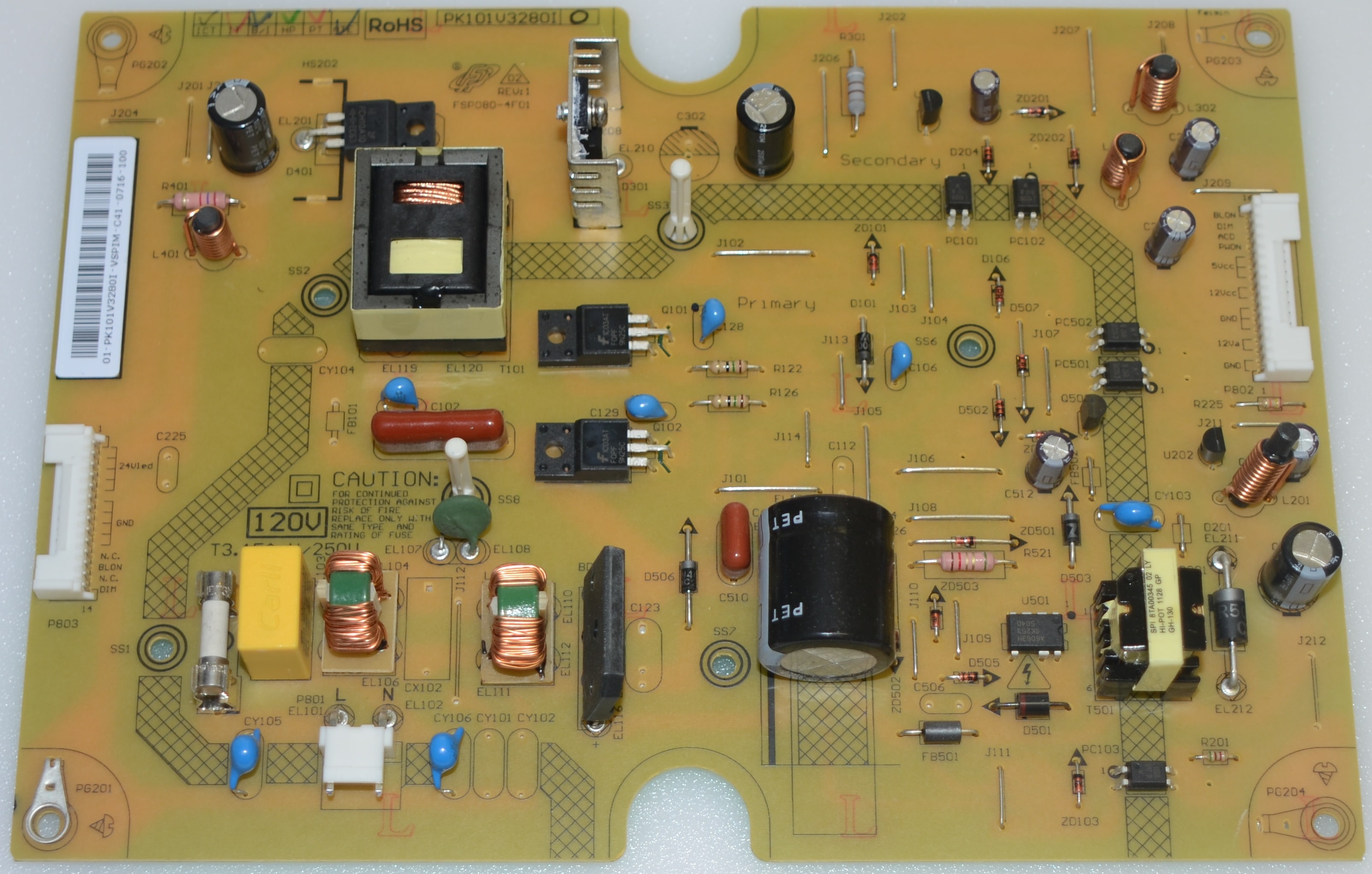 Toshiba 75031539 Pk101v3280i Power Supply Board Connector Wiring Diagram